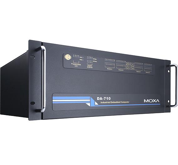 MOXA (Halle 4, Stand E24):Für die Montage in 19-Zoll-Racks ist der Intel-x86-gestützte, lüfterlose Embedded-Computer »DA-710« vorgesehen. Er unterstützt USB, VGA und CompactFlash. Zudem bietet er vier Ethernet- und zwei RS-232-Schnittstellen. Das 4 HE hohe Gerät eignet sich für Industrieanwendungen und lässt sich durch modulare Erweiterung jederzeit neu an spezifische Anwendungen anpassen. Entwickelt ist es speziell für Umspannstationen. Vorhanden sind PCI-Schnittstellen für Erweiterungsmodule: 8-Port-RS-232/422/485-Module (mit Isolierung, DB9 oder Terminal Block), 4-Port-10/100 MBit/s-Ethernet-Module, 8-Port-RS-232/485-Module, 8-Port-10/100-Switch-Module, 8-Port-RS-422/485-Module sowie ein universelles PCI Erweiterungsmodul. Der Computer bietet duale 100/240-VAC/VDC-Stromeingänge und unterstützt redundante Anwendungen für ununterbrochenen Betrieb. Vorinstalliert ist Linux, Windows CE 6.0 oder Windows XP Embedded.