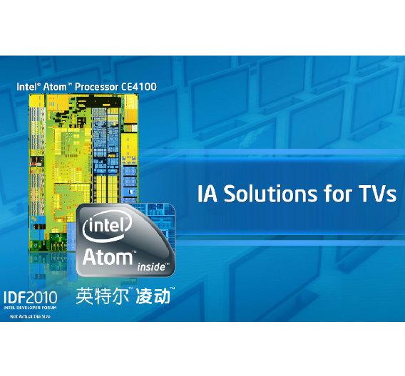 Neben weiteren Embedded-Anwendungen soll der Atom-Prozessor auch im Fernseher seinen Platz finden und dort Cores von MIPS und anderen Herstellern verdrängen.