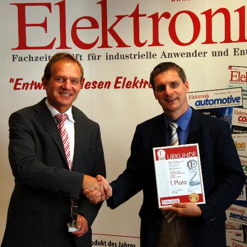 Der in Poing ansässige Distributor EBV Elektronik konnte in diesem Jahr fünf erste und zwei dritte Plätze belegen. (Bernd Pfeil, Gerhard Stelzer)
