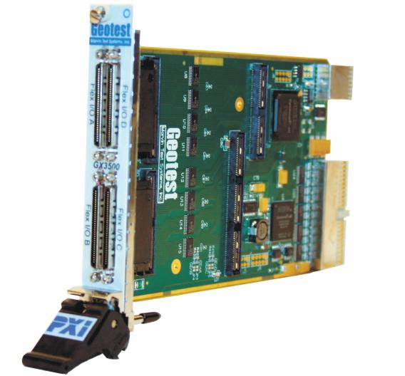 Viel an I/O-Funktionen: 160 Digitalkanäle unter Kontrolle eines leistungsfähigen FPGA bietet die PXI-Karte GX3500.