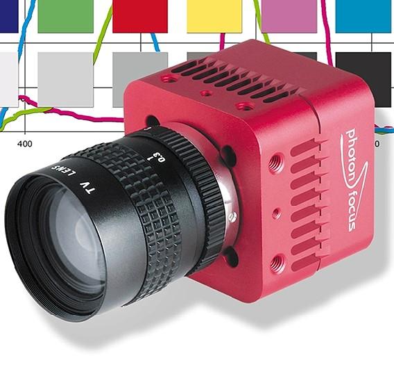 Auch die CameraLink-Farbkamera MV1-D1312C-160-CL-12 von Photonfocus ist mit einem hochauflösenden Global-Shutter-CMOS-Bildsensor ausgestattet. Sie erreicht eine Auflösung von 1312 x 1082 Bildpunkten und liefert 108 Bilder/s mit 12 Bit Auflösung. Erhältlich ist sie unter anderem bei Rauscher.