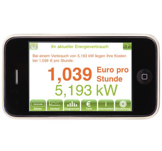 Auf den aktuellen Verbrauch wird der aktuelle Strompreis pro Stunde berechnet - alles in Echtzeit. Die Daten bleiben in der IEQ-Box gespeichert.