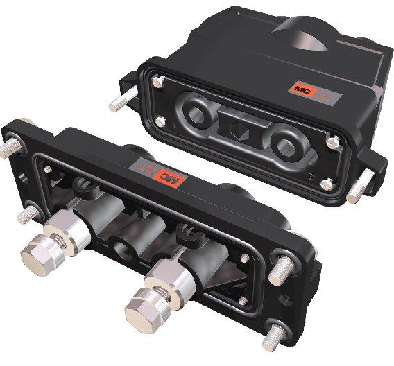 Der zweipolige Steckverbinder des Typs BTP-HE von Multi-Contact ist konzipiert für netzunabhängige Verteiler in der Bahnindustrie. Er ist ausgelegt für bis zu 200 A und 1000 V - baut aber dennoch kompakt.