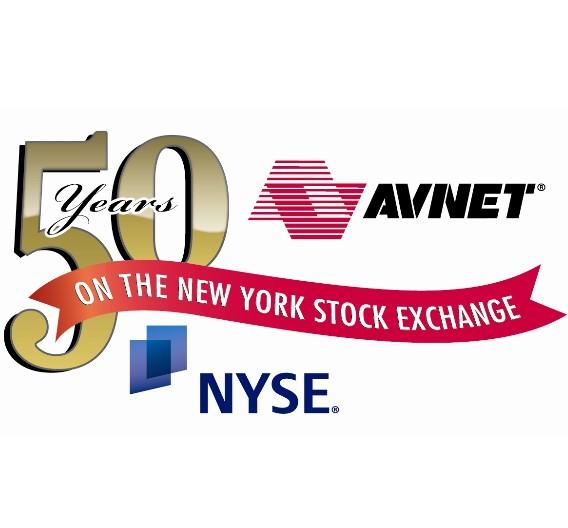 Avnet feiert sein 50jähriges Börsenjubiläum an der New Yorker Stock Exchange, länger als jeder andere Technik-Distributor.