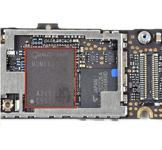 Der Basisband-Chip des GSM-Gerätes von Infineon wurde durch einen Qualcomm-Chip ersetzt.