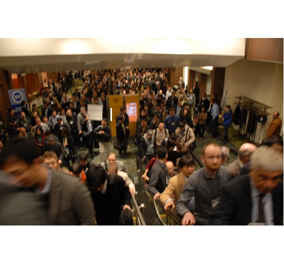 Über 3000 Teilnehmer konnte die ISSCC 2011 verbuchen - vielleicht auch wegen gesenkter Teilnahmegebühren gegenüber 2010.