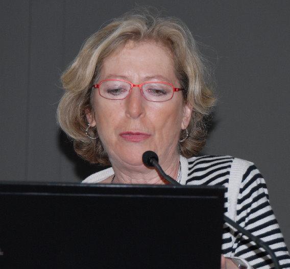 Die französische Abgeordnete Genevieve Fioraso bewarb vor allen Dingen den High-Tech-Cluster in Grenoble.