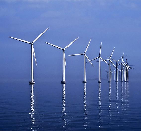 TTEthernet eignet sich auch für die Vernetzung von Offshore-Windkraftanlagen.