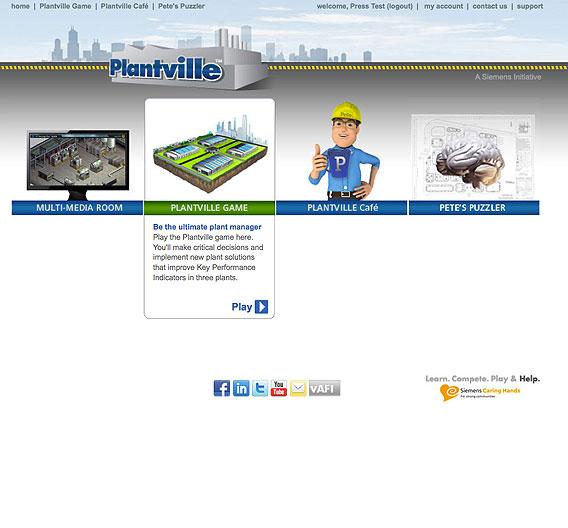 Im Online-Spiel Plantville von Siemens können angehende Ingenieure ihre Fertigkeiten als Anlagenmanager prüfen.