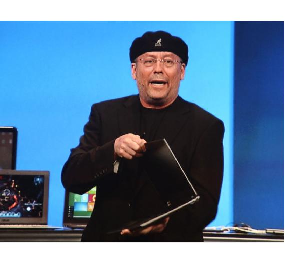 Mooly Ellen erklärte den Zuhörern die Vorteile der neuen PC-Generation, der Ultrabooks.