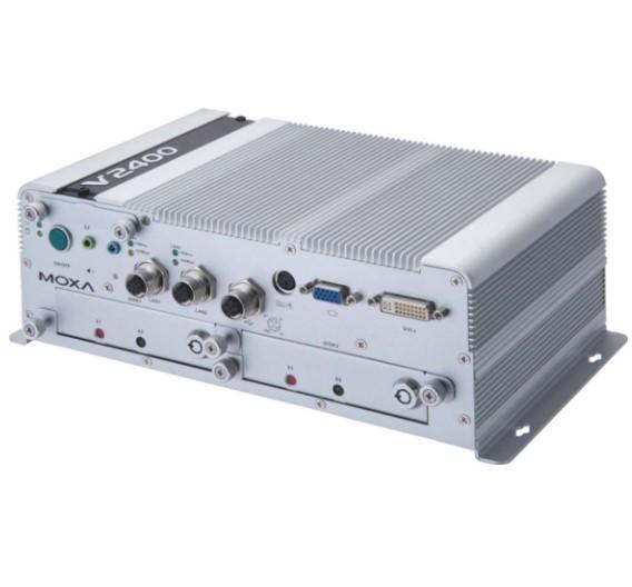 Als EN-50155-konformer Box-IPC ist V2416 von Moxa ein echter Schienenspezialist.