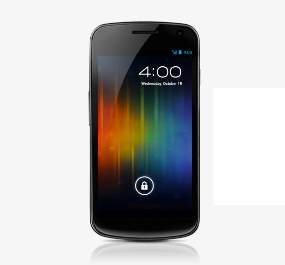 Das Galaxy Nexus von Samsung ist das erste Smartphone mit Android 4.0