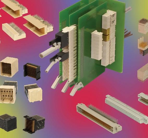 Folgende Backplane-Steckverbinder-Serien hat FCI im Programm: AirMax, Zipline, DIN41612 und Millipacs.