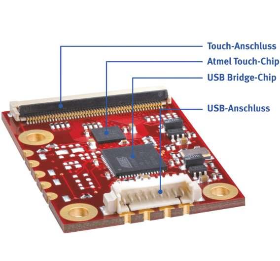 Das Herz eines easyTouch-Systems ist der Touchcontroller. Im Rahmen der easyTouch Solution setzt Data Modul ausschließlich Touch-ICs von Atmel ein.