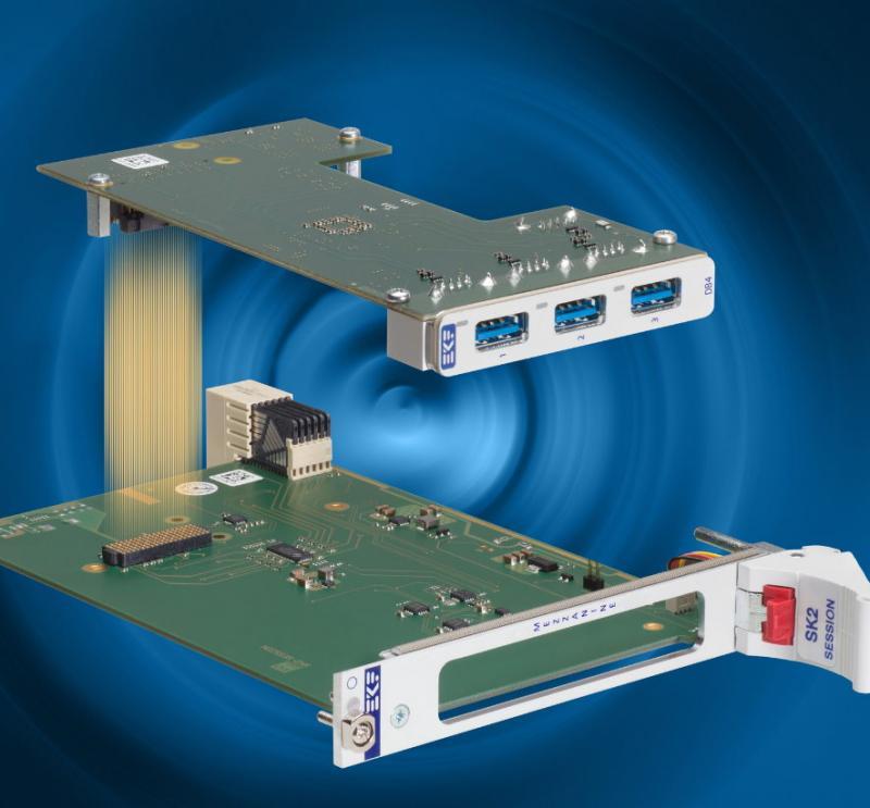 Das XMC-Modul findet auch auf 3HE-Karten Platz.
