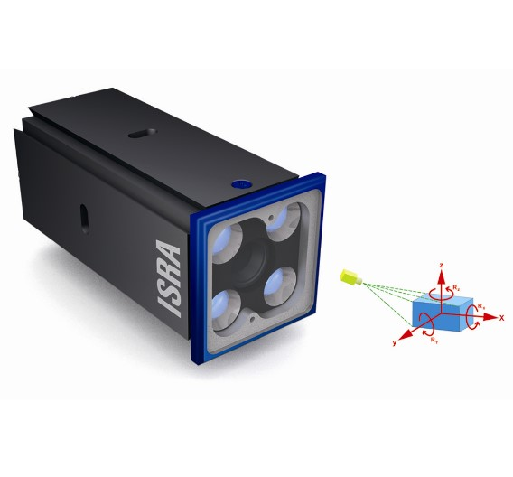 Für die neuen generischen Standard-3D-Bildverarbeitungssysteme von Isra Vision sind insgesamt zehn verschiedene Standard-3D-Sensoren für bestimmte Anwendungen erhältlich. Der 3D-Sensor »Mono3D« beispielsweise ermöglicht die 3D-Messung von Position und Orientierung mit nur einem Sensor. Er bestimmt alle sechs Freiheitsgrade für ein dreidimensionales Objekt über nur drei Merkmale.