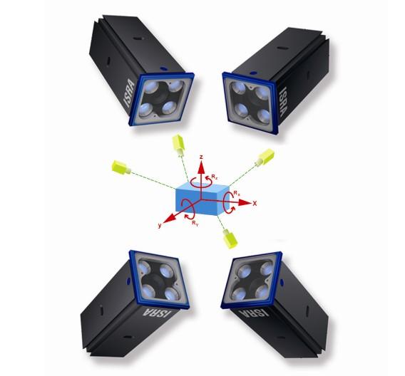 Beliebig viele Exemplare des 3D-Sensors »Mono3D« lassen sich mittels des Kommunikationsmoduls »CONactor« zu einem Multisensorsystem verbinden. Das System heißt dann »CONact Mono3D« und erlaubt die 3D-Koordinatenbestimmung großer Objekte mit hoher Messgenauigkeit.