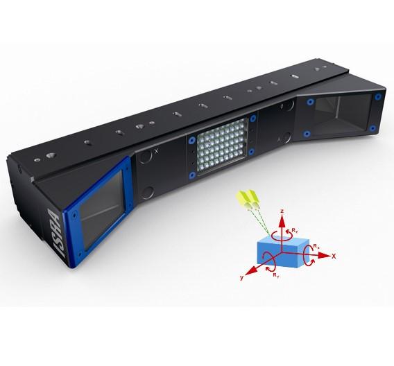 Der Stereosensor »Stereo3D« nutzt für das räumliche Sehen zwei Sensoren und bestimmt damit die 3D-Koordinaten des Objekts oder definierter Bildteile.