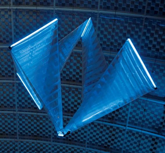 Die Bewegung des Flugobjekts erfolgt durch pulsatorischen Antrieb. Für die Umstülpung ist das Wechselspiel zwischen Diastole und Systole, also zwischen Ausdehnung und Zusammenziehen in rhythmischer Folge, verantwortlich. Das Helium kompensiert die Schwerkraft der Gliederkette und erzeugt so den Auftrieb des Flugobjekts.