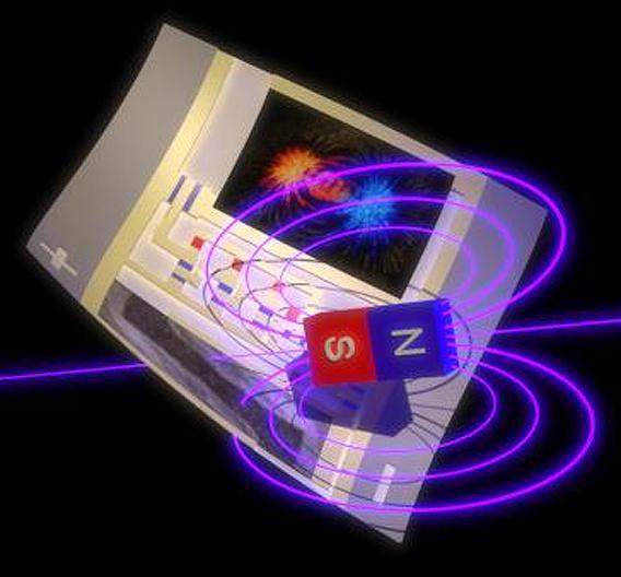 Ein druckbarer Magnetsensor fungiert als kontaktloser Schalter in einem integrierten Schaltkreis.