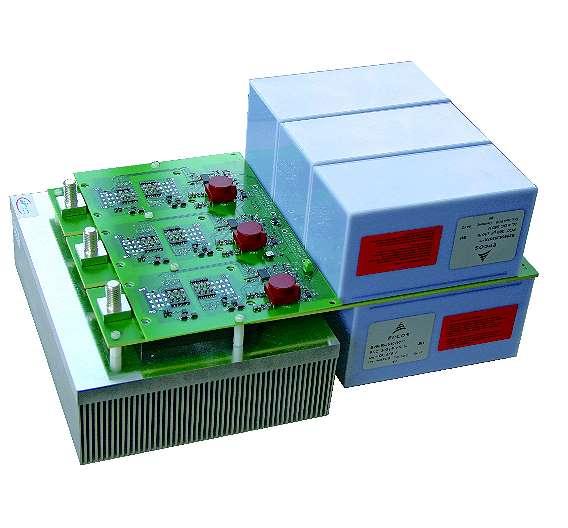 Bild 3: B6-Inverter-Stack-Design mit niederinduktivem Modul und PCC-Kondensatoren