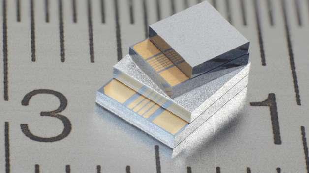 Durch die hohe Dichte der thermoelektrischen Strukturen erzeugen die Chips MPG-D75x Thermospannungen von mehr als 100 mV/K.