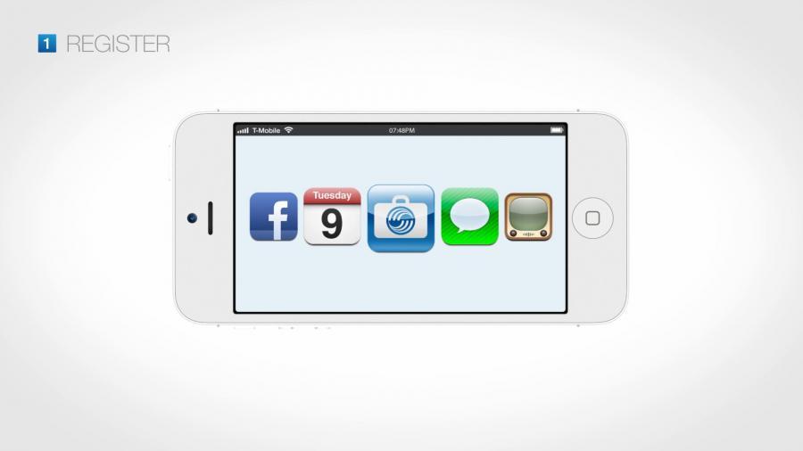 Am Anfang steht die Registrierung per App oder Online.