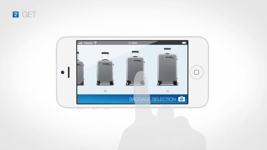 Auch die Bestellung des Koffermodells kann bequem mit der App erledigt werden.