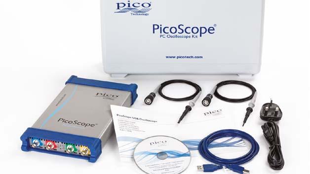 Ein umfangreiches Zubehör ergänzt die auch als ARB-Generator und Spektrumanalysator arbeitenden Picoscope-6000-Geräte.