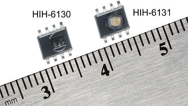 Die HumidIcon-Serie von Honeywell kombiniert Digitalausgang-Sensoren zur Überwachung der relativen Luftfeuchtigkeit und Temperatur in einem Gehäuse.