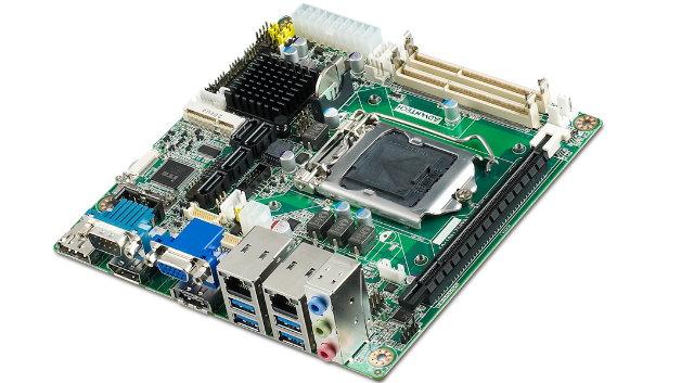 Mit 17 x 17 cm sind die Abmessungen der Mini-ITX-Boards für viele Embedded-Anwendungen geeignet.