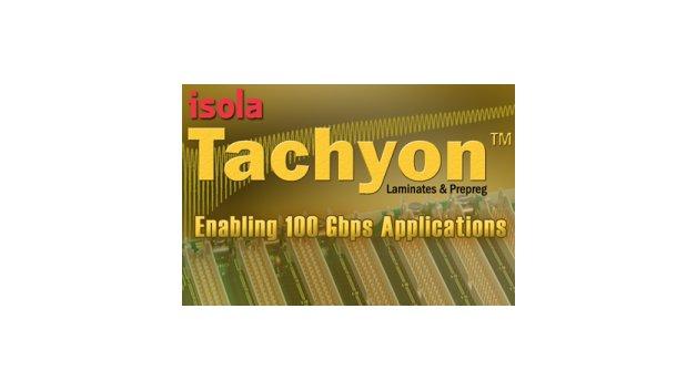 Die Isola Group begann mit der Alpha-Testphase von Tachyon, ihrem neuen, ultraverlustarmen Produkt zur Reduzierung der Einfügedämpfung bei digitalen Hochgeschwindigkeitsdesigns. Das Material zielt speziell auf mehrlagige Backplanes für den wachsenden Markt für 100 Gigabit pro Sekunde (Gbit/s) ab, bei dem Datenübertragungsraten von über 25 Gbit/s erzielt werden. Laminate und Prepregs mit Tachyon haben herausragende dielektrische Eigenschaften, die über einen breiten Frequenz- und Temperaturbereich hinweg äußerst stabil sind. Dies macht sie zu einer perfekten Lösung für neuartige Designs, in denen Backplanes und Daughter Cards mit höheren Datenübertragungsraten zum Einsatz kommen. Tachyon-Materialien beinhalten Spread-Glas und Niedrigprofil-Kupfer zur Verminderung von Schrägen und Jitter sowie der Verbesserung von Anstiegszeiten und des Augendiagramms. Tachyon hat eine nominale dielektrische Konstante (Dk) von 3,02, die zwischen -55 °C und +125 °C bis 40 GHz stabil ist. Zudem bietet Tachyon einen äußerst geringen Verlustfaktor von 0,0021.