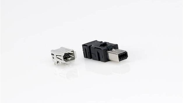 So sieht die neue Schnittstelle für die Automatisierung – der »Industrial Mini I/O«-Steckverbinder –aus.