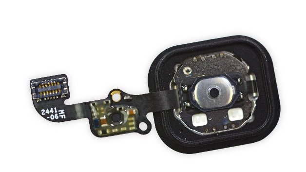 Der Home-Button mit Fingerabdruck-Sensor.