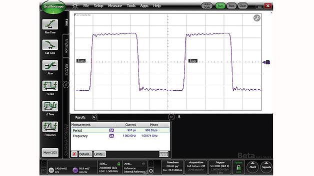 Bild 1 c) 1-GHz-Rechteck