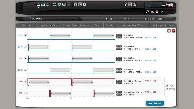Bild 2. Fenster der grafischen Benutzeroberfläche zum Einstellen der PWM-Kanäle.