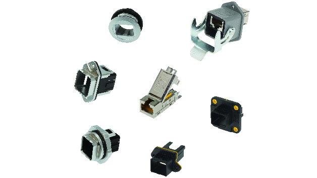 Das preLink-Produktprogramm von Harting umfasst eine Vielzahl an Komponenten mit diversen Steckgesichtern, welche sich in der Industrie- oder IT-Umgebung bewährt haben. Die Komponenten sind immer in Zinkdruckguss ausgeführt und somit sehr stabil.