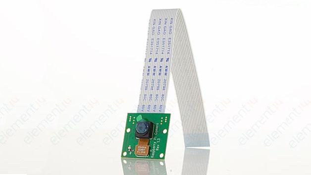 Bild 3: Raspberry Pi Camera: Für Hobbyfotografen, VoIP-Anwendungen, Filmaufnahmen und für eigene Video-Sicherheitssysteme eignet sich das Raspberry Pi Kamera Module mit 5 Megapixel für Videos mit bis zu 1080p und Bilder mit einer Auflösung von bis zu 2592x1944 Pixeln.