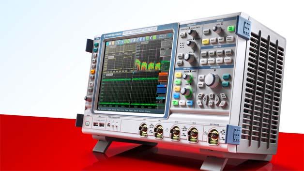 Laboroszilloskope:  Aus 8 bit werden 16bit Auflösung  Rohde & Schwarz bringt eine High-Definition-Option für die Oszilloskope der Serien R&S RTO und R&S RTE auf den Markt: Damit steigert sich die Amplitudenauflösung von 8bit auf 16bit. Erreicht wird dies durch digitale Tiefpassfilterung direkt nach dem A/D-Wandler. Die Filterung reduziert die Rauschleistung und das Signal-zu-Rauschverhältnis steigt. Der Anwender kann die Bandbreite des Tiefpassfilters flexibel von 10kHz bis 500MHz an die Charakteristik des angelegten Signals anpassen.    Rohde & Schwarz www.rohde-schwarz.com