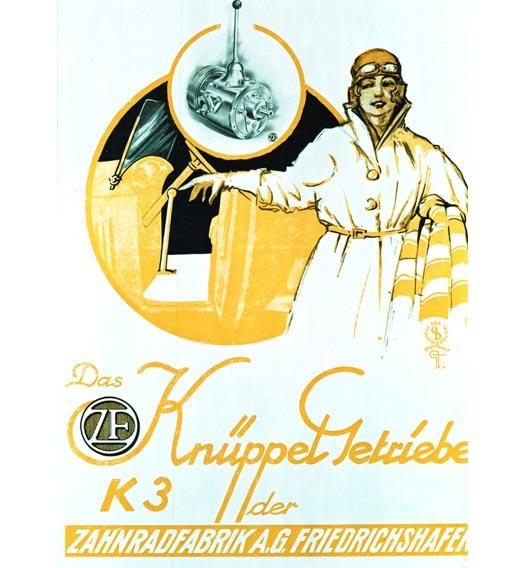 Werbung für das Knüppelgetriebe: Eine Anzeige aus dem Jahr 1920.