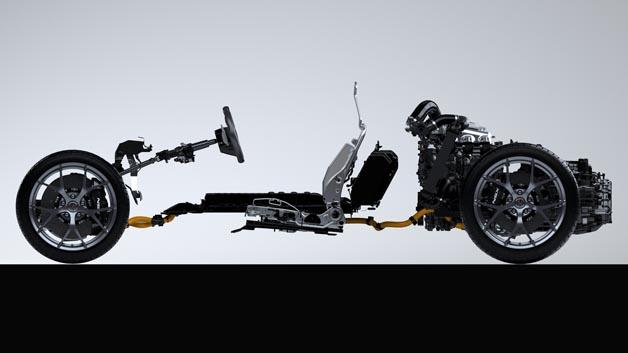 Antriebsstrang des NSX