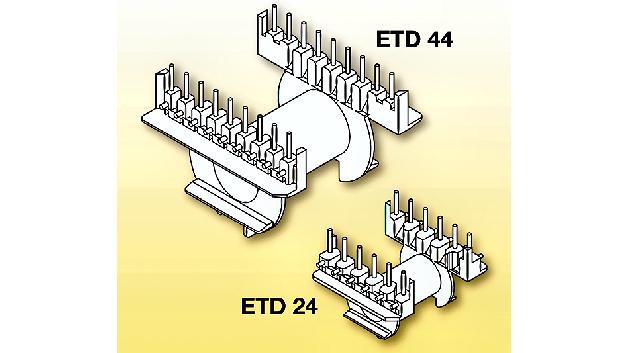 Die ETD-lr-Serie von Norwe ist eine komplett neu entwickelte Spulenkörperserie, bei der parallel zur Gewichtsreduzierung eine Minimierung der Bauhöhe realisiert werden konnte. Dabei gewährleisten u.a. spezielle Umwickelzapfen sowie die nochmals verbesserte Drahtführung im Rahmen der Weiterverarbeitung eine stets zugentlastete Anwicklung.  Die somit insgesamt optimierte Gesamtkonstruktion der Spulenkörper ist deshalb sowohl unter technischen als auch unter wirtschaftlichen Aspekten sehr attraktiv.