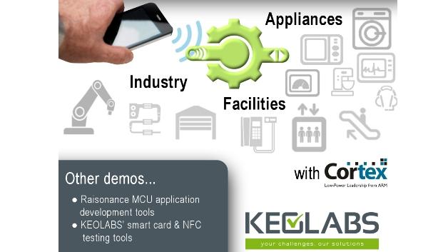 Neben den Entwicklungswerkzeugen der Serie »Raisonance« sowie Testtools und Dienstleistungen rund um Smart-Cards und NFC präsentiert Keolabs (Halle 4, Stand 103) auf der embedded world »IoTize«. Diese Lösung bietet Embedded Systemen eine schlüsselfertige Plug-&-Play-Connectivity per Smartphone für das Internet der Dinge (IoT). Es eignet sich für Mikrocontroller auf der Basis von »ARM Cortex«-Cores und verfügt über eine Sendereichweite von bis zu 5 cm (Nahdistanz) bzw. bis zu 20 m (mittlere Entfernungen). Entsprechende Security-Features sind implementiert.