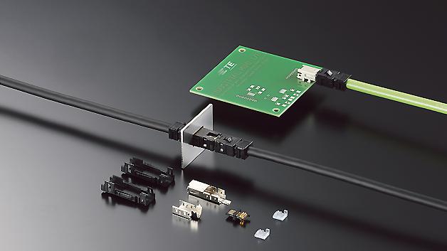 Spart 75 % der Fläche gegenüber Standard-RJ45-Lösungen: das neue Mini-I/O-Steckverbinderprogramm von TE Connectivity.