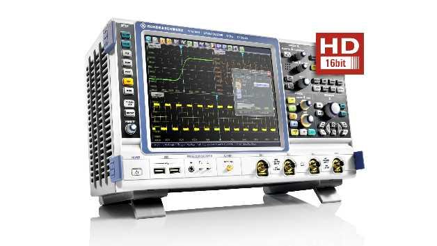 Der High-Definition-Modus erhöht die vertikale Auflösung der Oszilloskope R&S RTO und R&S RTE auf bis zu 16 Bit