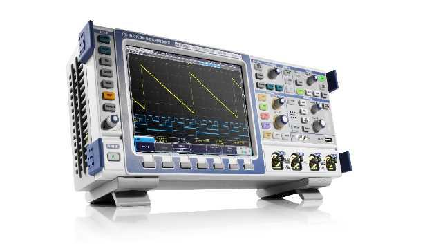 Die R&S-RTM-Oszilloskope gibt es jetzt auch mit segmentiertem Speicher, mit  Digitalvoltmeter und mit Frequenzzähler