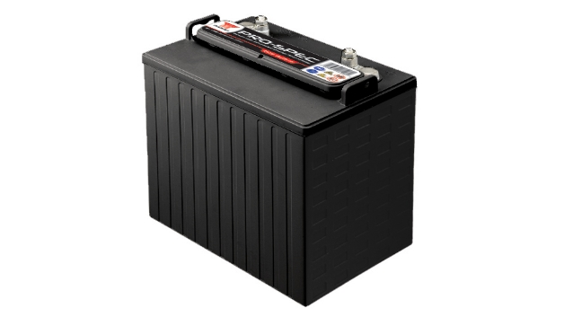 Insbesondere für den anspruchsvollen Einsatz bei sehr großen Entladetiefen hat Yuasa die Blei-Säure-Batterien der Serie »Pro-Spec« konzipiert. Sie eignen sich für elektrische Fahrzeuge wie Golfcarts oder Rollstühle sowie Flurförderzeuge, Zugangsplattformen und Bodenreinigungsgeräte. Zur Auswahl stehen die drei Anschlussarten Embedded-Terminal (ET), Dual-Fit-Terminal (DT) und Standard-Terminal (ST). Die vier 6-V-Typen besitzen eine 20-stündige Kapazität von 210Ah, 225Ah, 240Ah und 260Ah, während die 8-V-Modelle Kapazitäten von 170Ah, 190Ah und 240Ah bereitstellen. Die 20-stündige Kapazität der 12-V-Type liegt bei 150Ah.