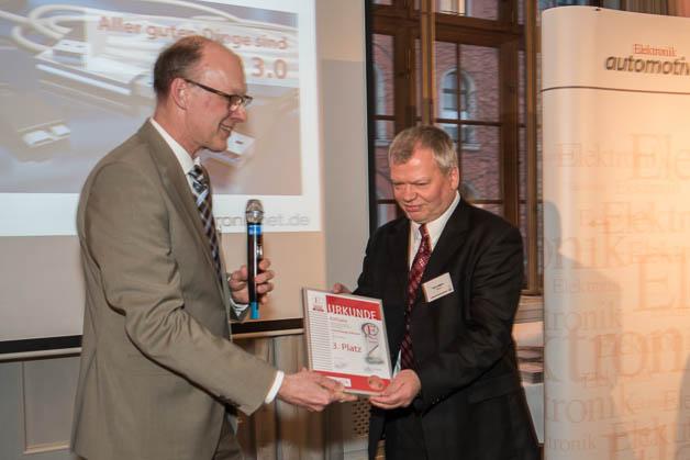 Noch ein dritter Platz: Uwe Jesgarz von Kithara Software erhält ebenfalls eine Urkunde.