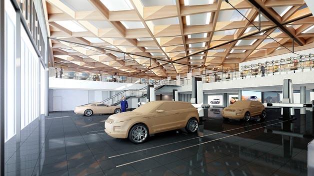 Geplantes National Automotive Innovation Centre (NAIC) von Jaguar Land Rover an der Universität von Warwick.