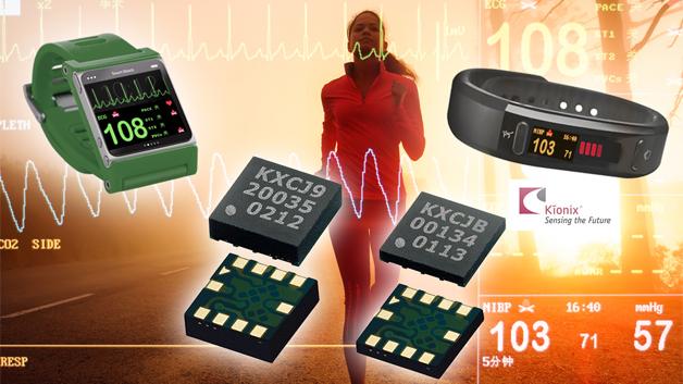 Der MEMS-Hersteller Kionix, Teil der ROHM-Gruppe, kündigte vor kurzem mit seinen KX112 (2x2x0,6mm) und KXCJB (3x3x0,45mm) die ersten ultradünnen, voll funktionsfähigen 3-Achsen-Beschleunigungssensoren der Branche an. Der KX112 bietet neben 16-Bit Auflösung eingebaute digitale Algorithmen zum Erfassen von Bewegung für das Power Management, eine Erkennung des freien Falls sowie Orientierungs-Funktionen für Hoch-/Querformat-Erkennung und Tap/Doubletap für Bediener-Schnittstellenfunktionalität. Die Auflösung des KXCJB kann zwischen 8 bit, 12 bit und 14 bit gewählt werden. Er verbraucht im Standby unter 1 µA im Standby, 10 µA bei geringer Auflösung und 135µ bei hoher Auflösung. Beide Sensoren verfügen über eine digitale I²C-Kommunikationsschnittstelle.